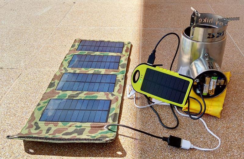 Підключення до сонячної панелі через PowerBank